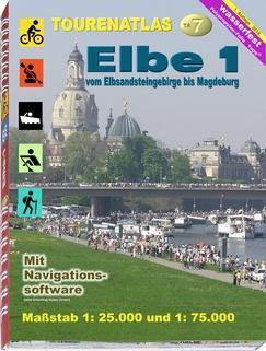 karta: Německo: Labe - úsek Hřensko/Magdeburg