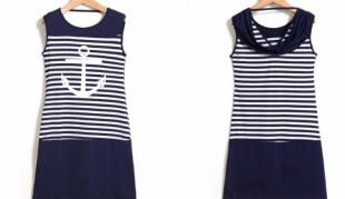 karta: Námořnické letní šaty s kotvou