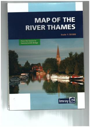 karta: Anglie - plavební mapa Temže